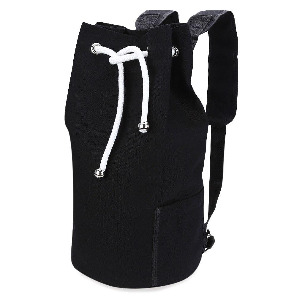 New Fashion Men Backpack Solid Color Drawstring Canvas Bucket Bag Portable String Backpack Men Bag Brand Mcvilla navo fashion drawstring backpack shoe bag multi room 100