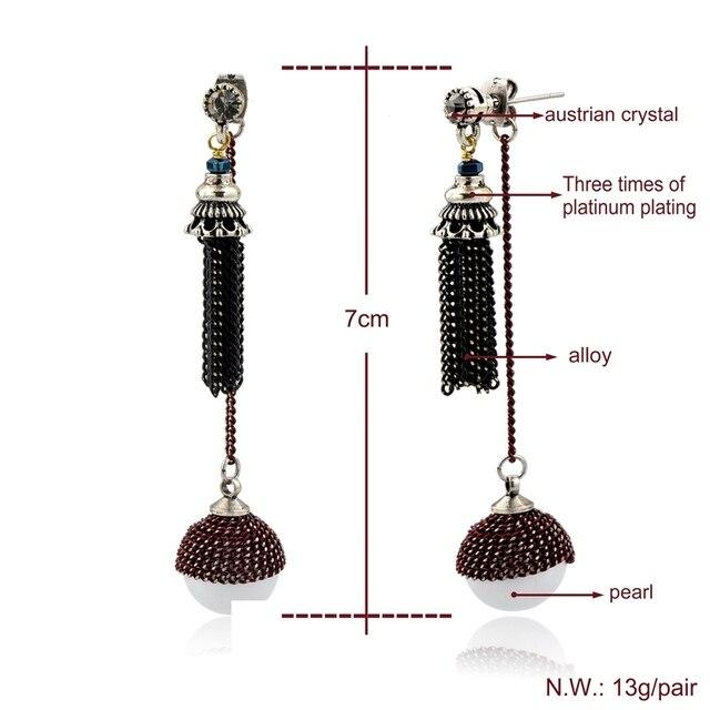 Висячие серьги chicvie с имитацией жемчуга для женщин серебряный