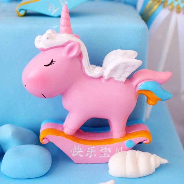 Новый милый Пегас Единорог выпечка торта ко дню рождения декоративные украшения творческий автомобиль украшения дома