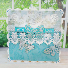 Eastshape Lace Bow Metal Cutting Dies Crafts Frame Die Cut for New 2019 DIY Scrapbooking Card Making Album Embossing Stencil
