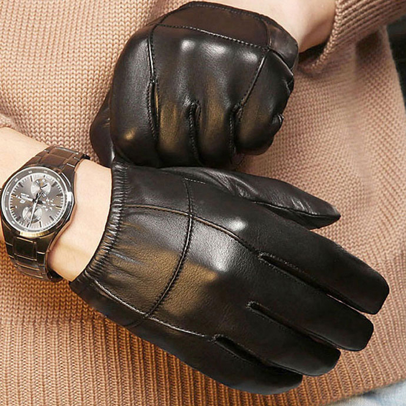 Svadilfari New 2018 Women/men Leather Gloves Warm Autumn Winter Patent Leather Gloves Goat Skin Windproof Fashion Gloves