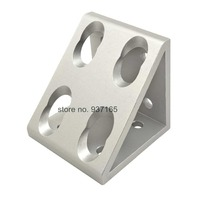 8 Hole Inside Guesset Corner Angle L Brackets Fastener Fitting Round Hole For 4080 8080 Aluminum
