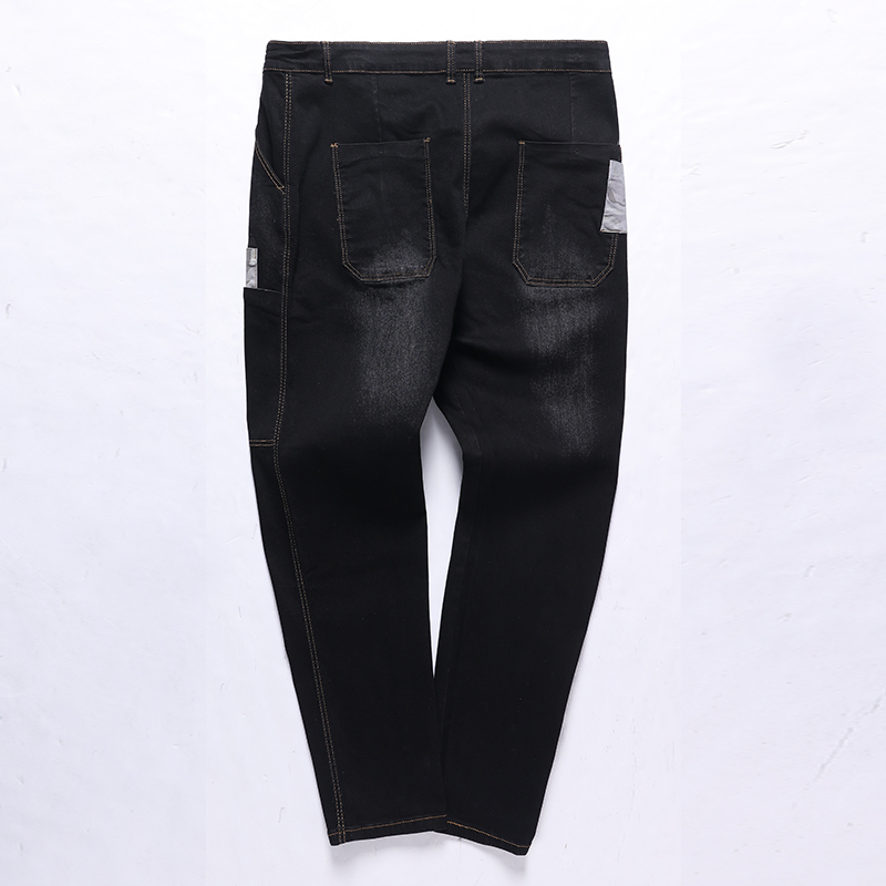 Patchwork 8xl Grande Automne Black Lâche Pantalon dark Blue Jeans Blue Droite Hippie 9xl Taille 7xl Hommes Grand Élasticité light Stretch Crayon 12xl 7fFqzz