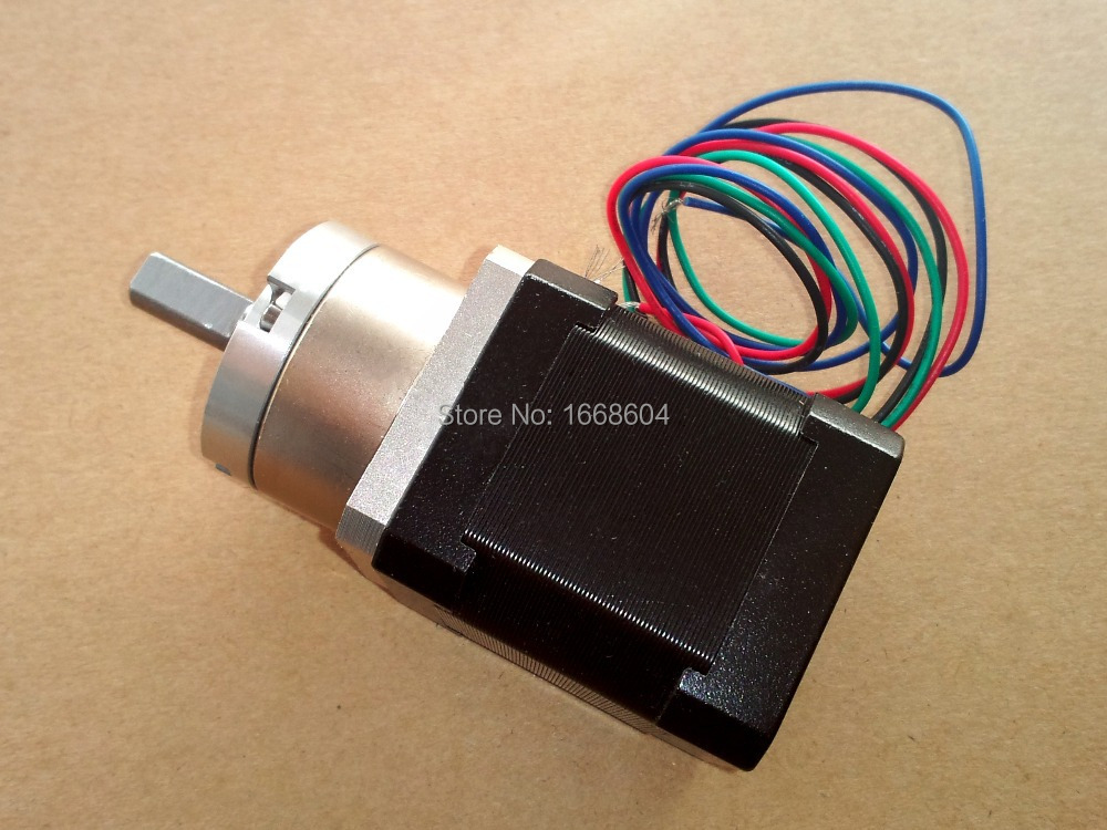 NEMA 17 Geared Stepper Motor for 3D Printer RepRap Prusa Makergear M2 Extruder Free Shipping 5pcs nema 14 stepper motor 25 5oz in 18ncm 5 4v 0 8a bipolar 3d printer makerbot 3d printer prusa makerbot reprap cnc robot