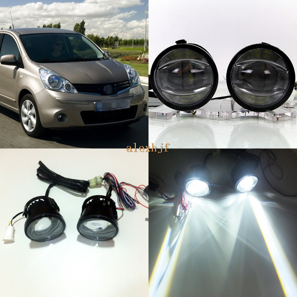July King 1600LM 24W 6000K LED Light Guide Q5 Lens Fog Lamp +1000LM 14W Day Running Lights DRL Case for Nissan Note E11 2006-09 july king 1600lm 24w 6000k led light guide q5 lens fog lamp 1000lm 14w day running lights drl case for nissan inifiniti series