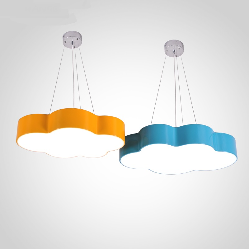 personality kindergarten pendant lamps Children lamp color cloud simple modern led bedroom room lamp creative playground lamp