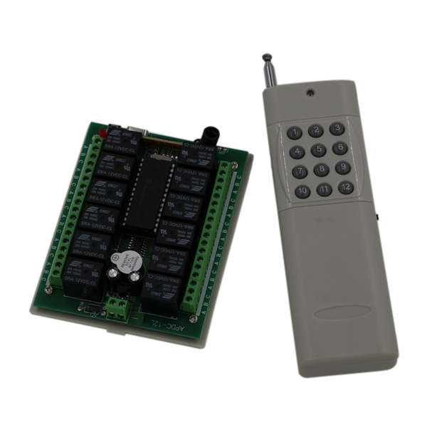 Free Shipping DC24V 12CH RF Wireless Remote Control Switch 1000 m Agriculture Security Industry Control 315/433MHZFree Shipping DC24V 12CH RF Wireless Remote Control Switch 1000 m Agriculture Security Industry Control 315/433MHZ