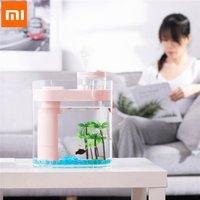 XIAOMI Geometry Aquaponics Ecosystem Small Water Garden Ecological Fish Tank Transparent Aquarium with Humidifier