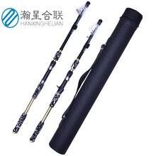цена на Carbon Telescopic Fishing Rod 2.4m / 2.7m 5 Sections H Power Spinning Lure Rod Baitcasting Bolognese Travel Portable Set