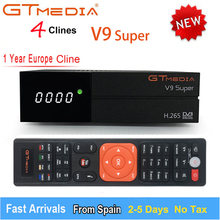 GTMedia V9 SUPER upgrade From V8 NOVA Satellite TV Receiver DVB-S2 Europe Clines for 1Year Built Wifi Dongle High Quality Stable