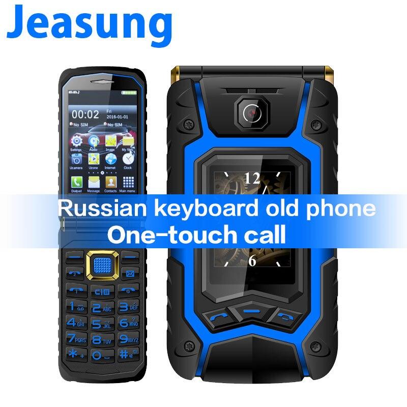 Double écran tactile Flip Senior Mobile écriture à clapet téléphone russe clavier une clé appel réponse téléphone ancien
