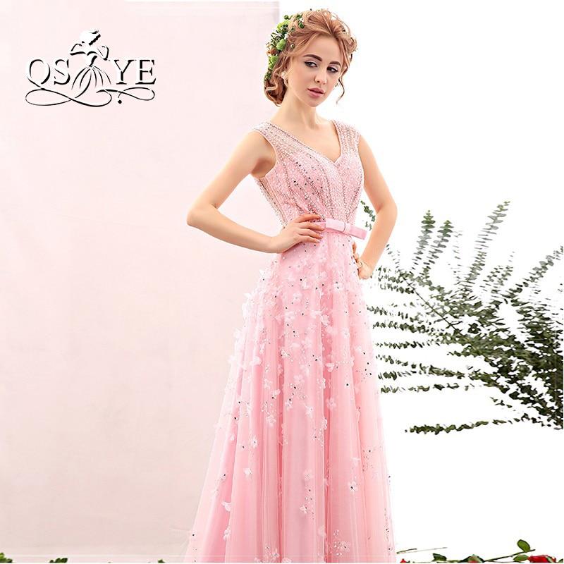 2018 nueva llegada Rosa baile vestidos largos vestido de festa ...