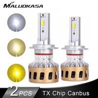 2PCS LED H4 H7 LED Headlight Bulb Canbus 20000LM/Set 56W 3000K 43000K 6000K H11 LED H8 HB3 HB4 LED Fog Light 12V 24V Car Lights