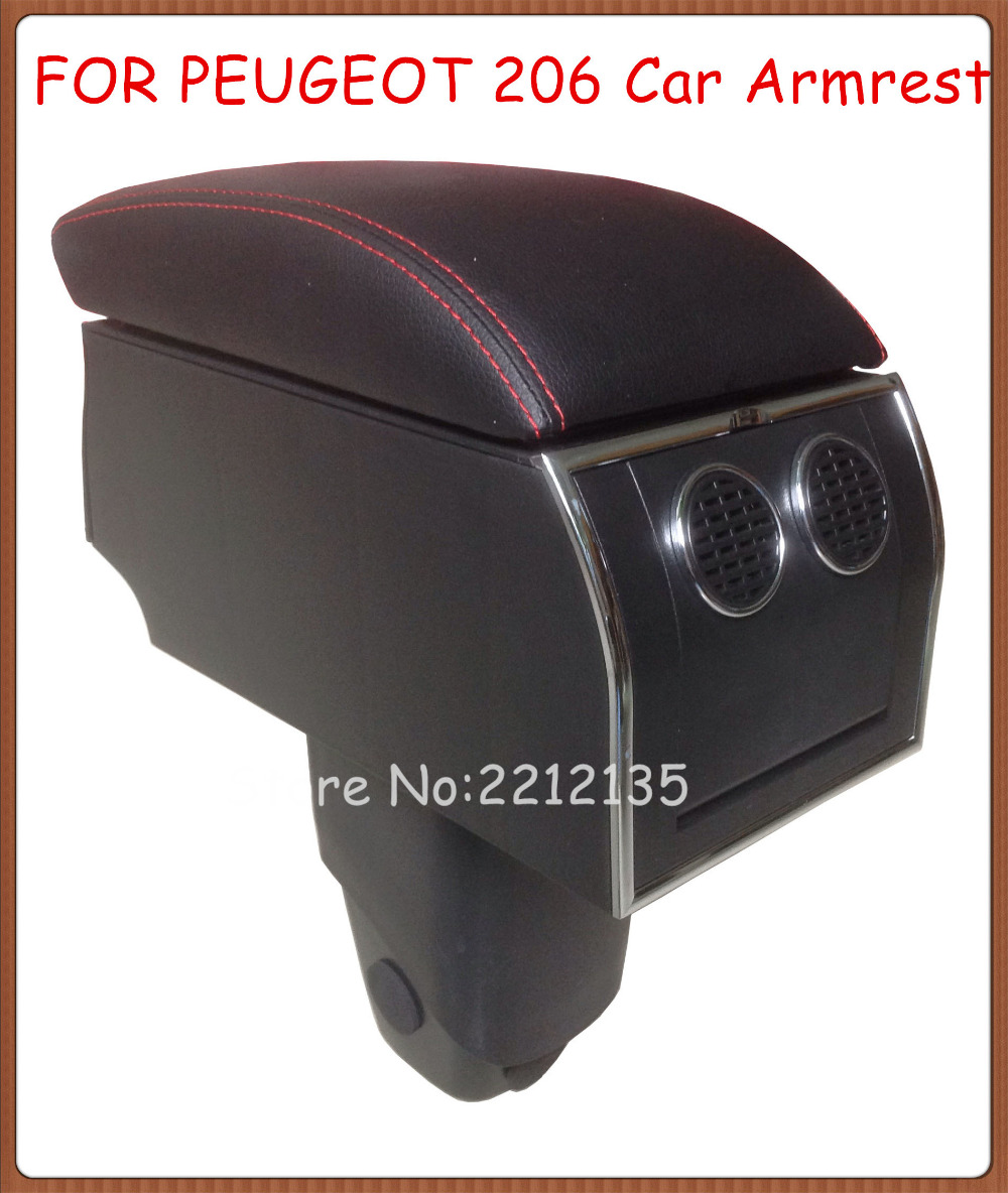 for peugeot 206 no drill 8pcs usb armrest all in one car center arm rest console box with hidden. Black Bedroom Furniture Sets. Home Design Ideas