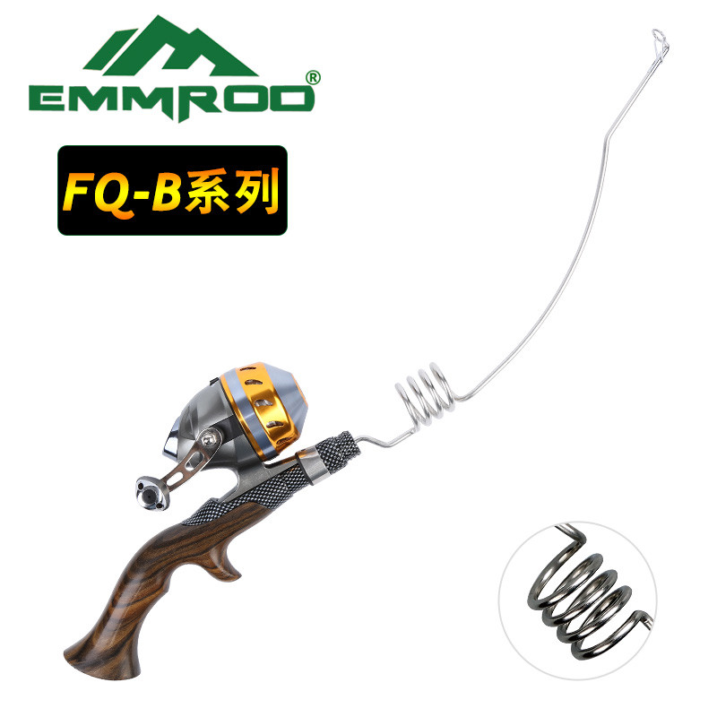 NY Emmrod Fishing Combo Casting Pole Spinning Rod & Spincast Reel Stainless Portable Casting Fiske Pole Rod Fishing Tackle