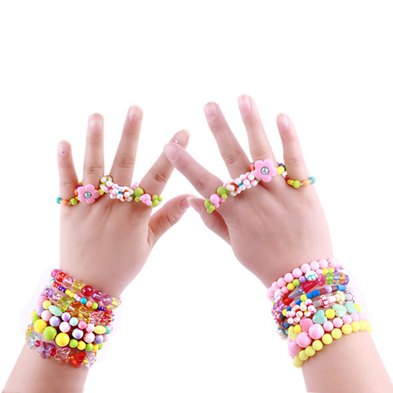 DIY Handmade Beaded Toy With Accessory Set Children Creative 10 Grid Girl Jewelry Making Toys Educational Toys Children Gift