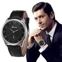 Мода 2 Цвета специальные Для мужчин Для женщин Женева моды кожа аналоговый Нержавеющаясталь кварцевые наручные часы Dropshipping