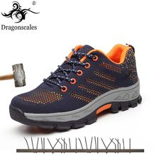 fc85f2d0b37 2019 Men Breathable Mesh safety shoes Outdoor Puncture Proof ...