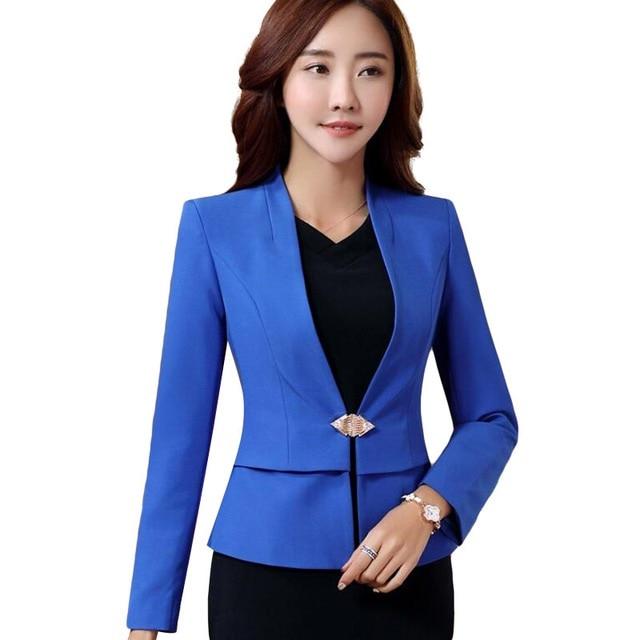 Professional OL Office Ladies Business Blazer Winter Elegant Formal Long Sleeve Slim Women Jacket Plus Size Work Wear Coat