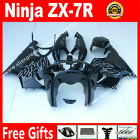 ABS plastic Fairings for 1996 2003 Kawasaki Ninja ZX7R 96 03 popular black bodywork fairing kits 7 gift SJ93