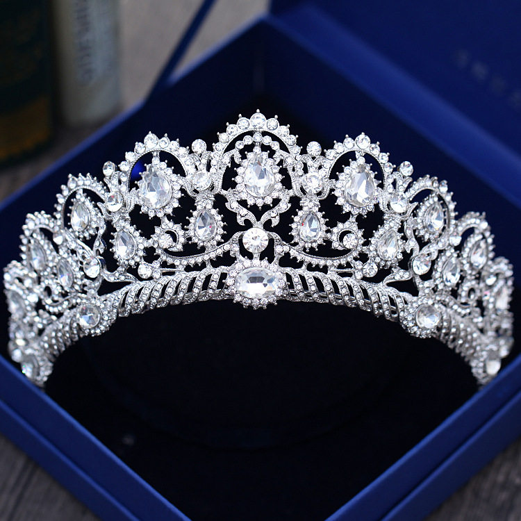 Europaische Diadem Caroque Grosse Krone Kristall Tiara Hochzeit