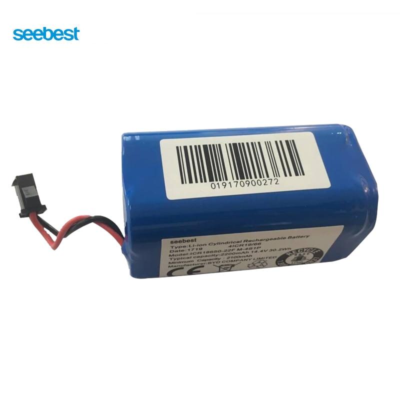 Seebest D850/D751/D750/D730/D720 Robot Vacuum Cleaner Spare Parts Replace Lithium Battery 2200mah d