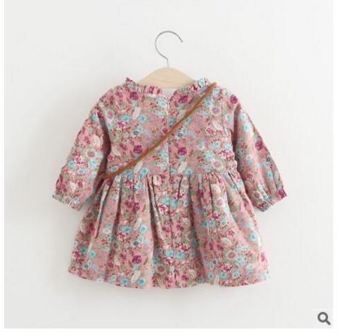 80494254d 2017 autumn winter newborn Dress infant baby clothes dress for girl ...