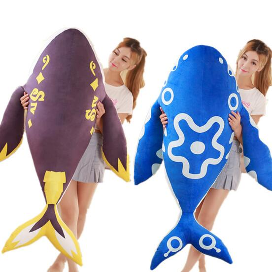 Toys & Hobbies 80cm Cute Blue Whale Down Cotton Elastic Anime Mounts Whale Super Soft Plush Toy Doll Stuffed Animals Birthday Gift