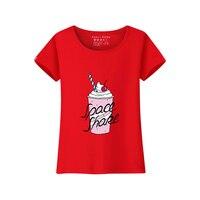 Продвижение хлопковые топы женские розовые летняя футболка Топы с короткими рукавами качество футболки Прохладный Костюмы черные футболк...