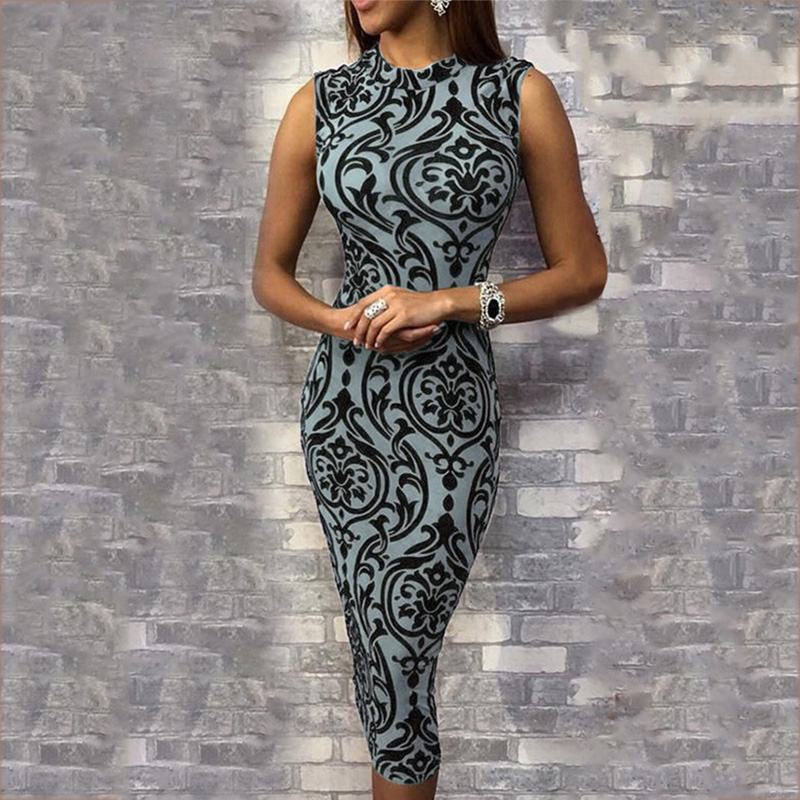 Sleeveless sheath Lace Tight Bodycon Dress