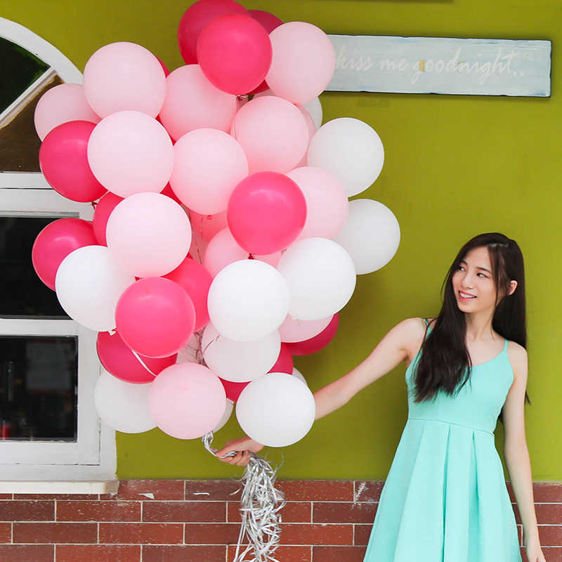 10pcs/lot 10 inch 2.2g matte thickened round balloons weeding decoration birthday party ballons latex balloons