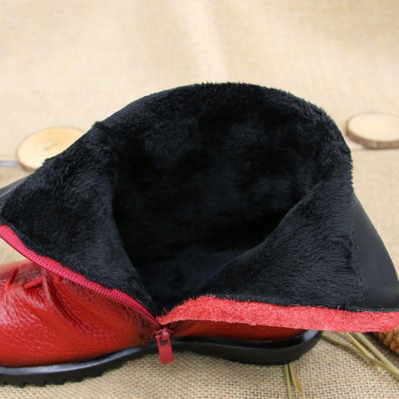 2017 женские сапоги из натуральной кожи в винтажном стиле женские сапоги на плоской подошве сапожки из мягкой коровьей кожи ботильоны с фронтальной молнией женщин mujer