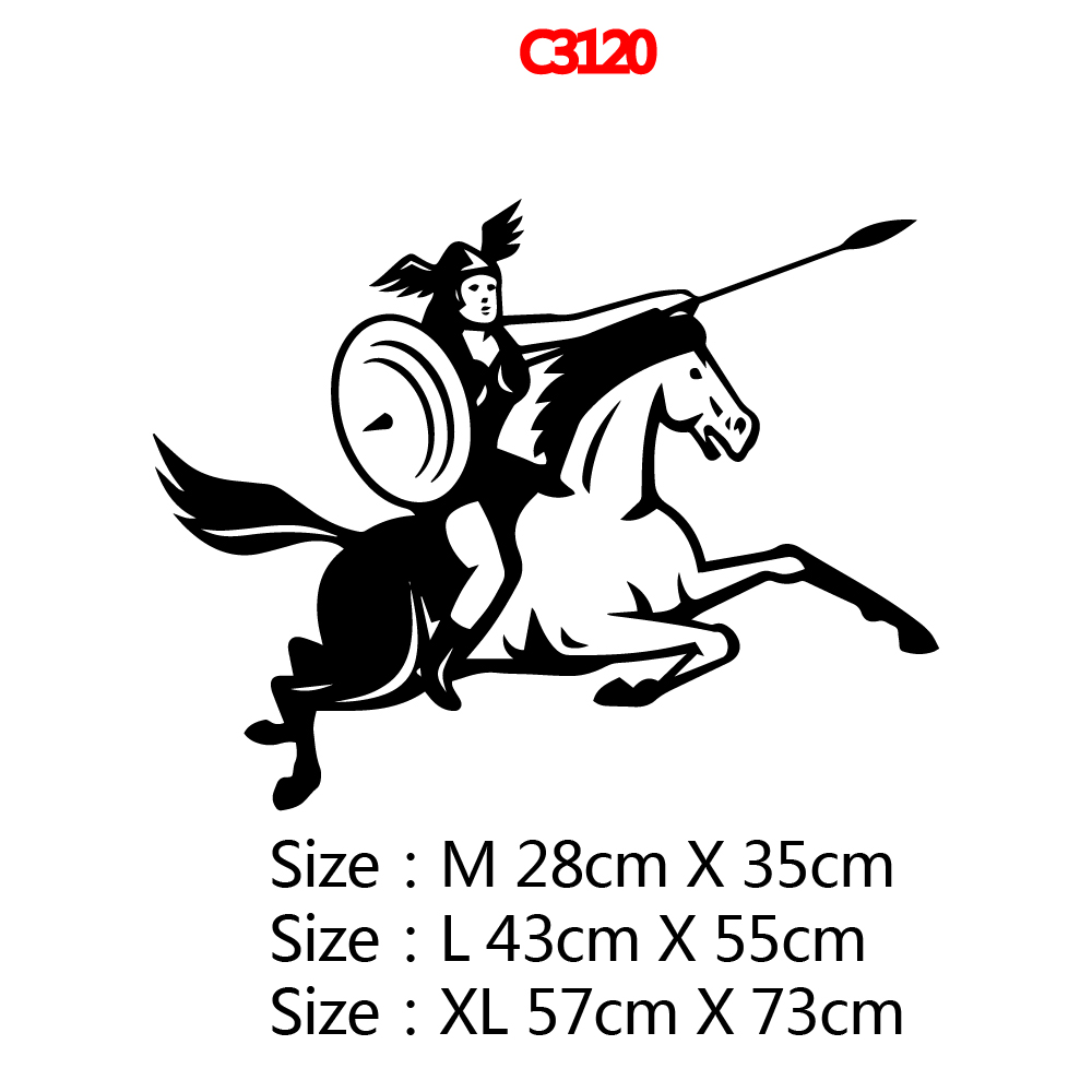 Large Cavalryman Wall Stickers Vinyl Waterproof Home Decoration For Kids Rooms Home Decor Wall Decal adesivo de parede in Wall Stickers from Home Garden