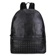 Новая Корейская мода первый слой женская кожаная сумка кожаные женские сумки заклепки пакет