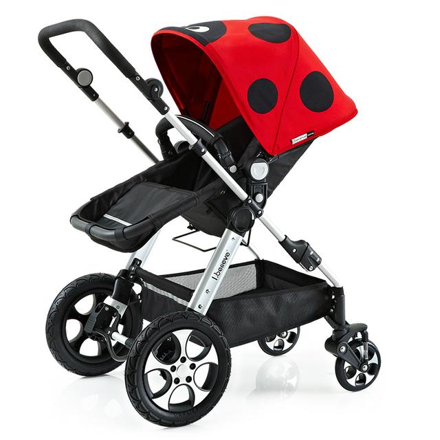 Paisaje de alta Pequeña rueda Bidireccional Cochecito Plegable de aleación De Aluminio A Prueba de Golpes Portátil de Coche de Bebé Puede Sentarse Mentira Cochecito C01