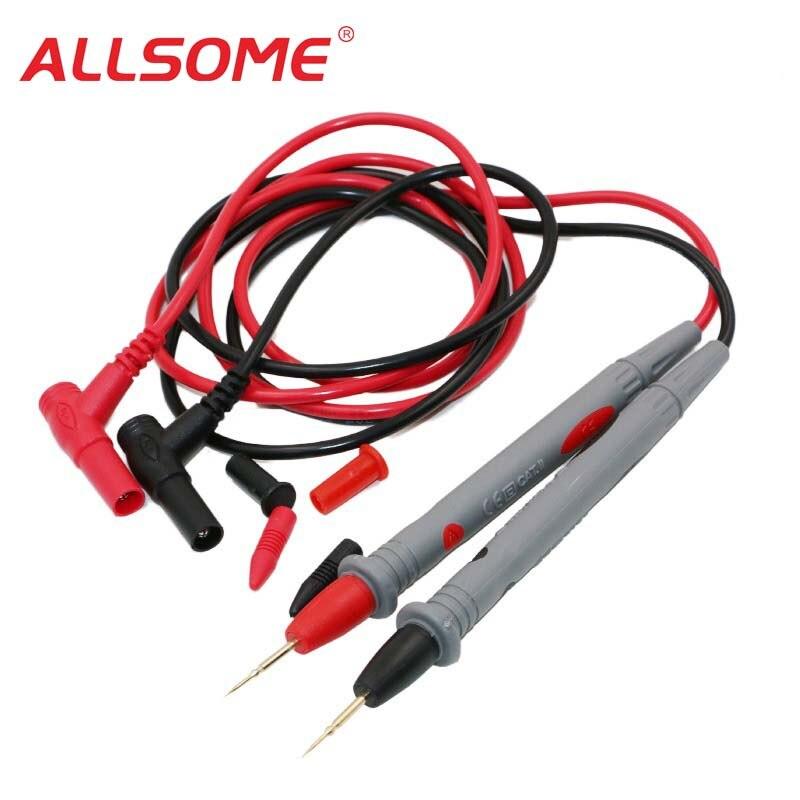 ALLSOME Multi Meter Test Stift Kabel 1000V20A Universal-Digital-Multimeter Blei Sonde Draht HT982 +
