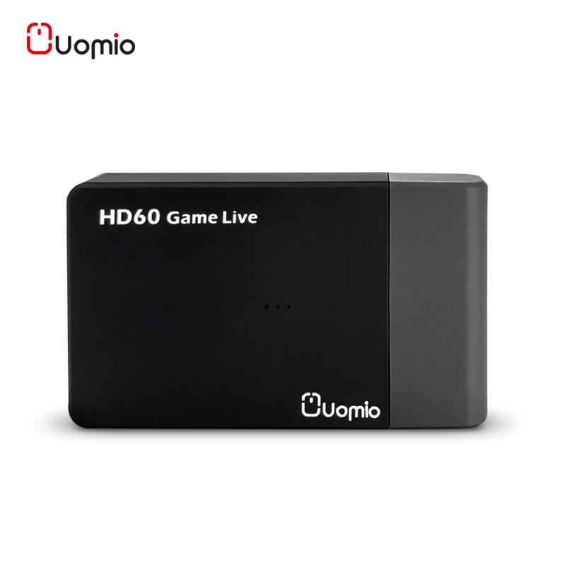 Uomio HDMI Vidéo Tuner Cartes USB 3.0 Rapide Vitesse 1080 p 60fps carte de capture UVC Standard tv numérique Vidéo Tuner Pour PC ezcap 261 M