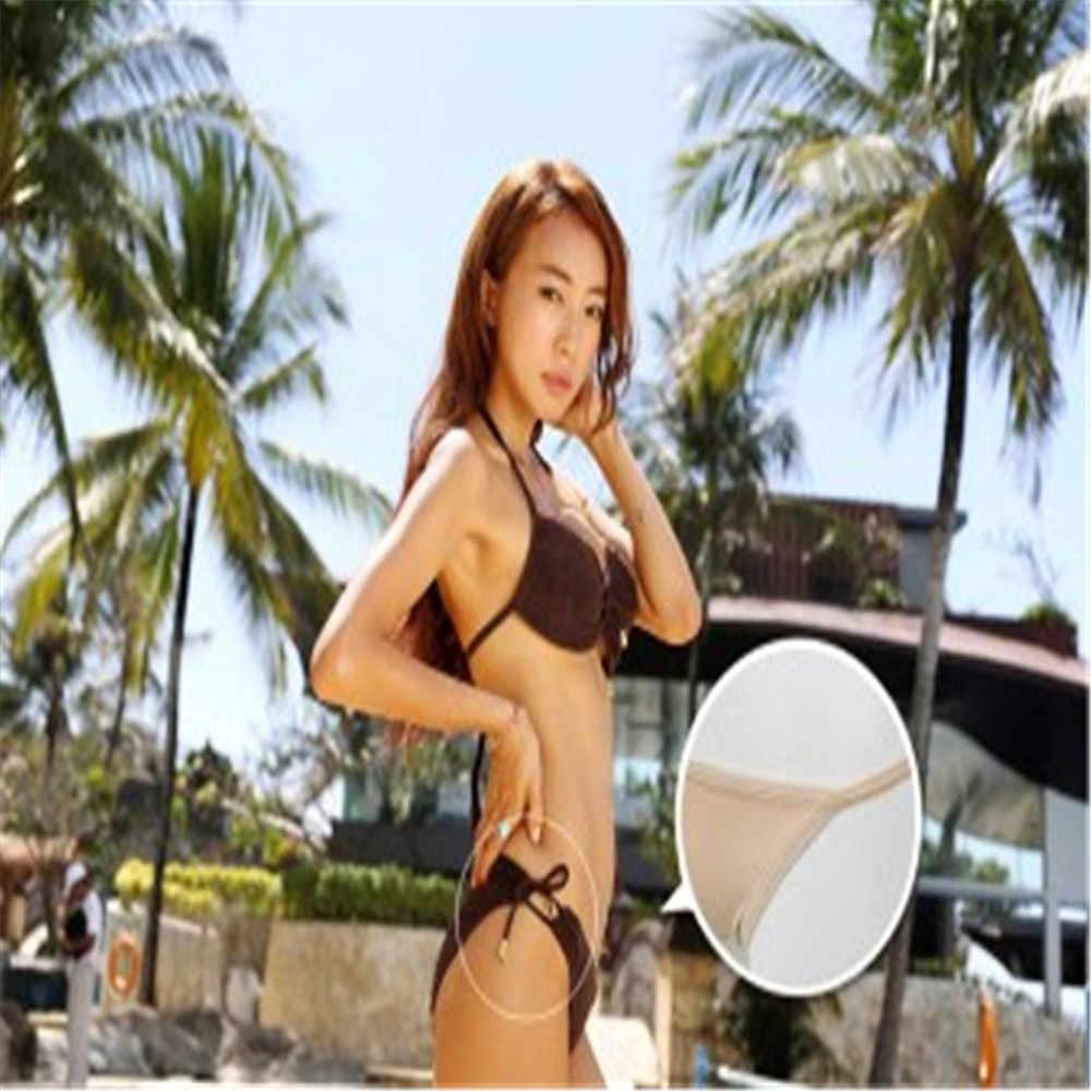 2019 nouveau été Sexy Bikini ensemble été string sous-vêtements bas V sans couture doux Legging maillots de bain plage femmes accessoires offre spéciale