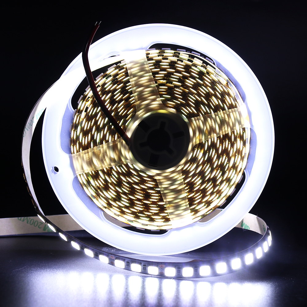 120Leds/m 5054 LED Strip Light Waterproof DC12V 600 LED Ribbon Tape Brighter Than 5050 SMD Cold White/Warm White/Ice Blue/Red 5M 5m dc12v waterproof led strip 5050 smd 60led m flexible led light white warm white red green blue rgb tape ribbon