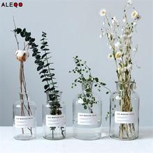 Минималистский Стекло баночки для хранения скандинавский моде элегантность прозрачный стол хранения бутылки Органайзер цветок контейнер Декор