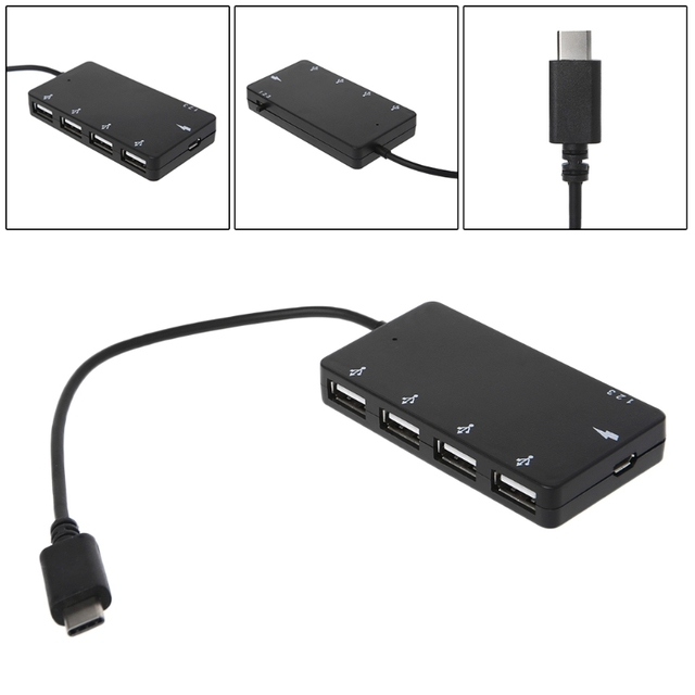 4 Port USB Hub Type C OTG Charging Adapter For smartphone Tablet PC Macbook Laptop Accessories