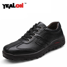 YEALON Men Shoes Casual 2016 New High Quality Genuine Leather Fashion Men Casual Shoes For Men Plus Size 45,46,47,48