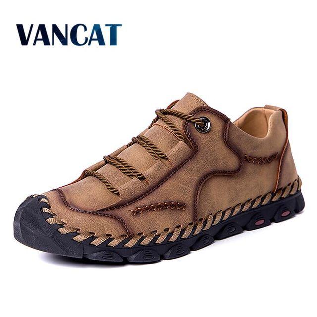 Vancat 2019 ฤดูใบไม้ผลิรองเท้าแฟชั่นผู้ชาย Loafers ผู้ชายขับรถสบายรองเท้าหนังนุ่มลื่นบนรองเท้าผู้ชายขนาด