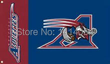 Montreal Alouettes Flag 150X90CM CFL 3X5FT Banner 100D Polyester grommets custom009, free shipping