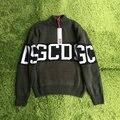 Mejor versión 2017 GCDS otoño invierno sweater brand mujeres hombres suéter suéteres outwear cashmere suéter grueso nueva colección