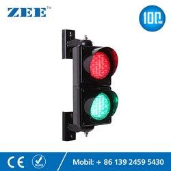 4 pulgadas 100mm LED lámpara de semáforo rojo verde señal de tráfico luz de estacionamiento señal de entrada y salida