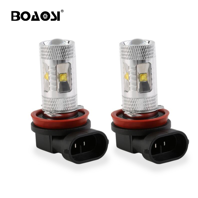 BOAOSI 2Pcs H8 H11 HB3 9005 <font><b>HB4</b></font> 9006 <font><b>LED</b></font> Fog Light Bulb Lamp <font><b>Cree</b></font> Chip White 30W High Power image