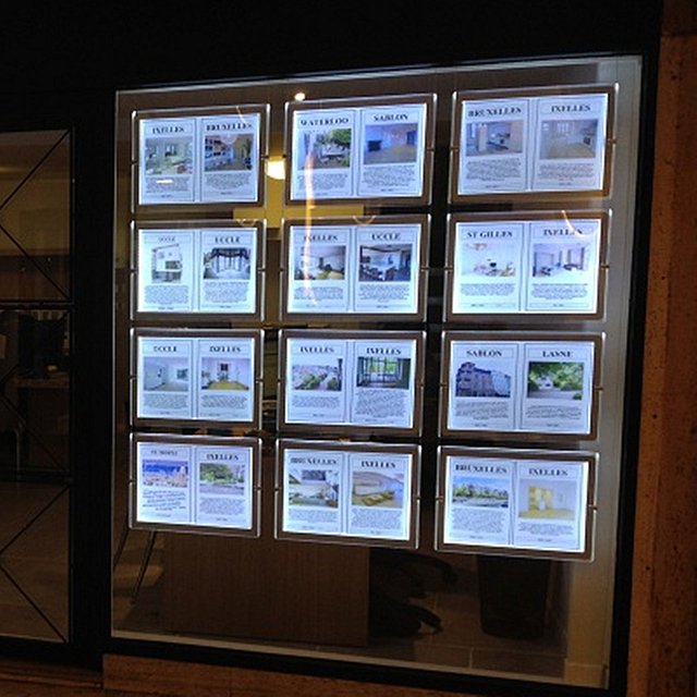 Led Sign Display Real Estate Agent Light Box Hanging