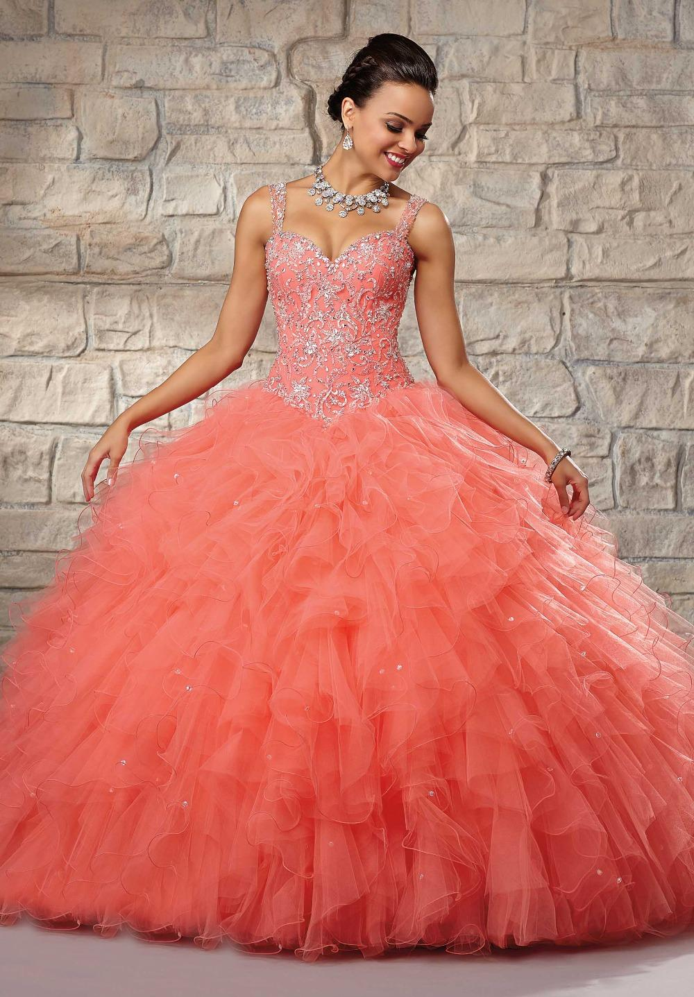 New Arrival Rhinestone Bodice Ball Gown Organza Hot Pink Wedding Dressin Dresses From Weddings Events On Aliexpress Alibaba Group: Salmon Pink Wedding Dress At Websimilar.org