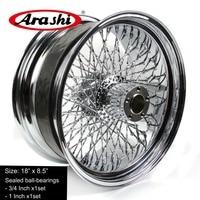 Arashi 80 Spoke 18X8.5'' Wheel Rim Rear Rims For Harley Davidson Custom Application SOFTAIL FATBOY DELUXE HERITAGE FLH FLT FLR